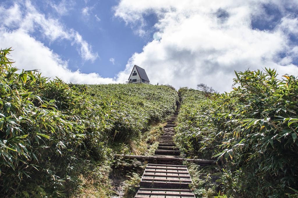 紅葉に萌ゆる氷ノ山(兵庫県、鳥取県/中国山地)