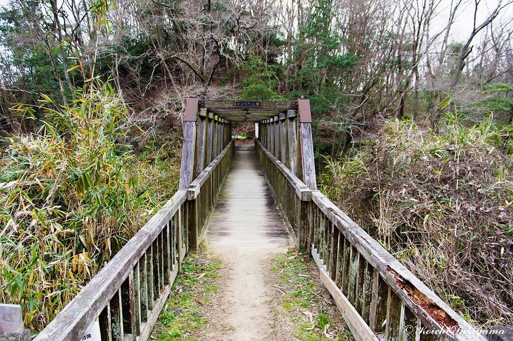 ひょうたん橋を渡りむろいけ園地へ
