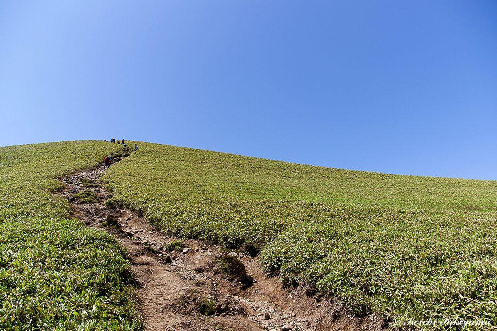 山頂への最後の登り