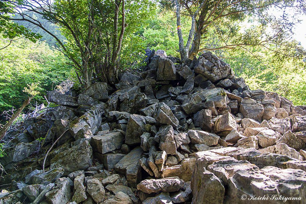 展望の良い岩場