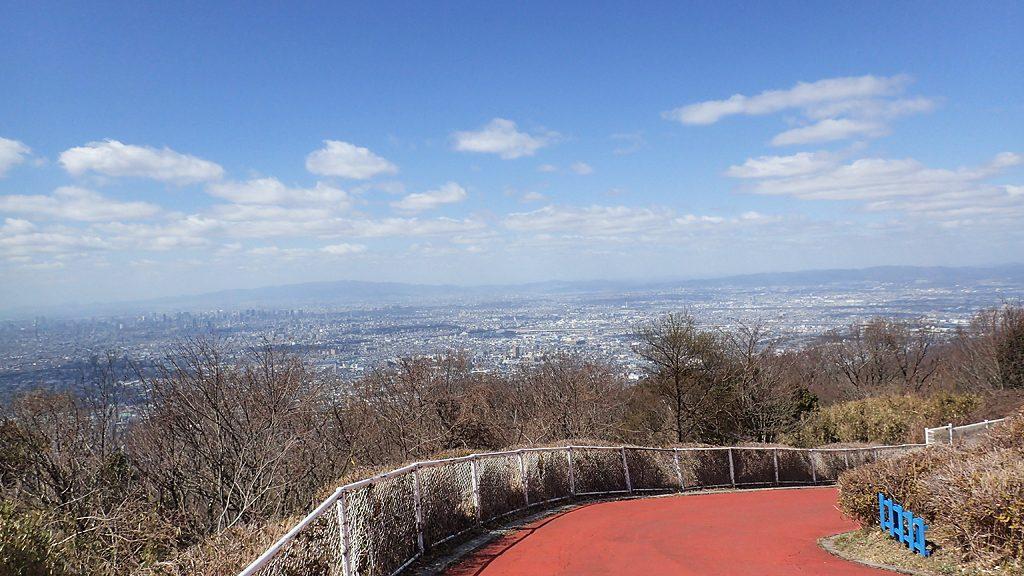 生駒山頂からの大阪側眺望