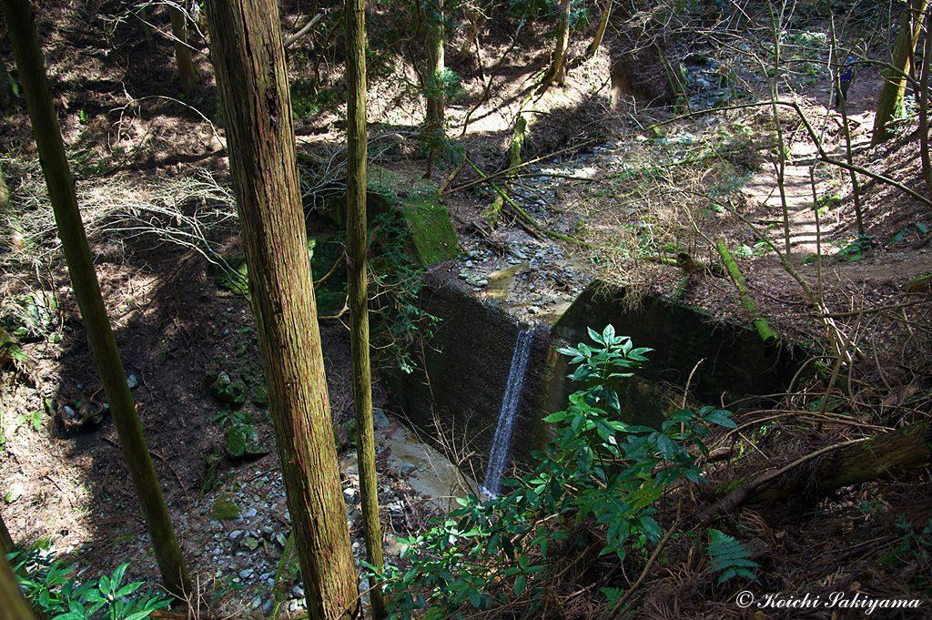 第三堰提…ここも堰提上部は土砂で埋め尽くされています