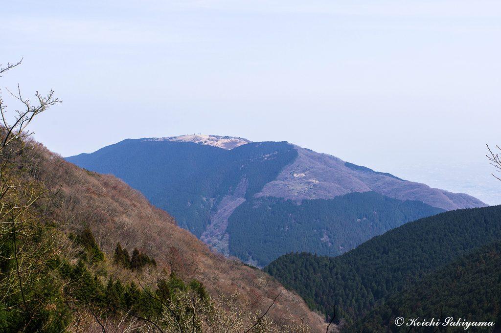水越峠に下りて登り返す大和葛城山